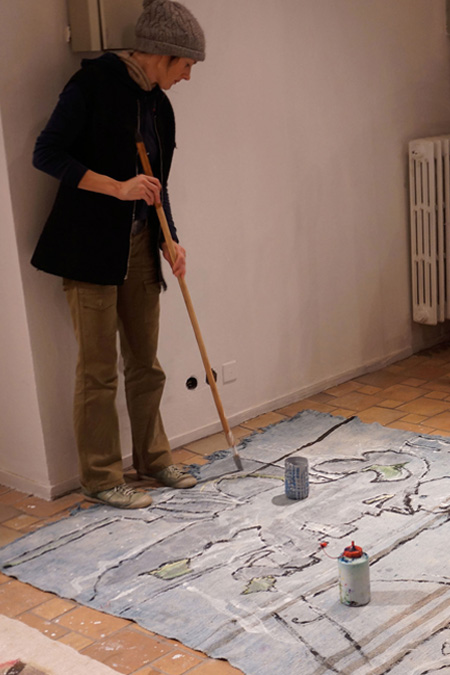 Painting on Carpet