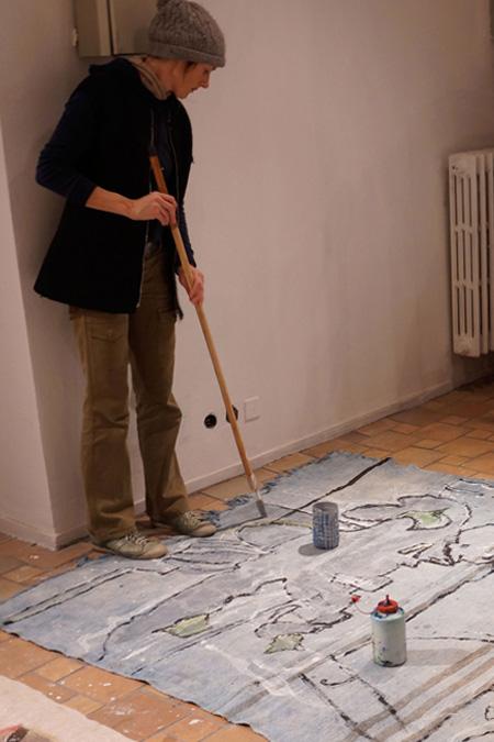 Painting on Carpet