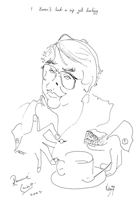 with my respects, Ronnie Corbett, Hay Festival 2007, he laughed and loved a sketch