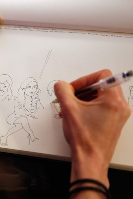Sketching the UN Variety Panel, Cannes 2015